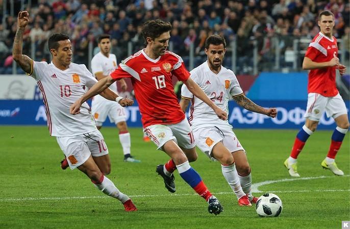 Как закончился товарищеский матч сборных России и Испании?